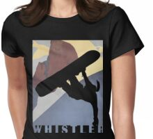 Whistler Mountain Snowboarding Betty, winter sport Womens Fitted T-Shirt