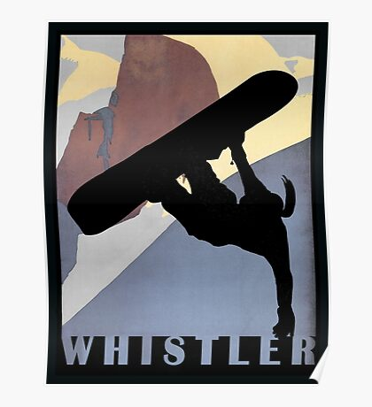 Whistler Mountain Snowboarding Betty, winter sport Poster