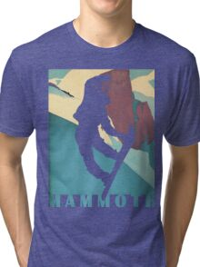 Snowboarding Betty at Mammoth, winter sport travel art Tri-blend T-Shirt