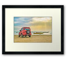 Jericoacoara Beach Landscape Scene Framed Print