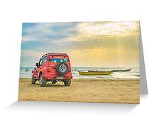 Jericoacoara Beach Landscape Scene Greeting Card