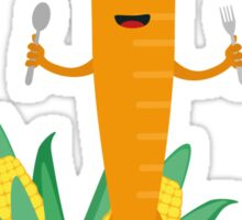 Thanksgiving Carrot with Vegetables Sticker