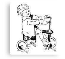 Vintage 30s Tricycle Boy Canvas Print
