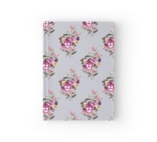 Pansy Purple on Dove Grey Hardcover Journal