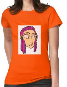 Cornrows Girl Womens Fitted T-Shirt