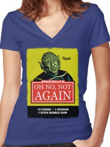 OH NO, NOT AGAIN Women's Fitted V-Neck T-Shirt