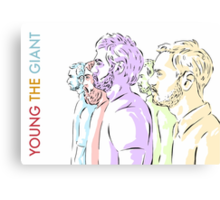 Young the Giant Doodle (Color) Canvas Print