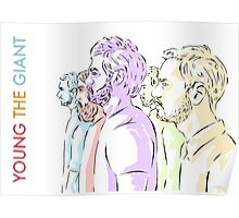 Young the Giant Doodle (Color) Poster