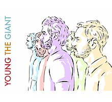 Young the Giant Doodle (Color) Photographic Print