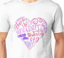 Jane Austen Typography Quote - There is no charm Unisex T-Shirt