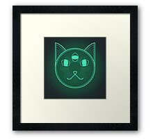 Dystopic Sci-Fi Kitty Framed Print