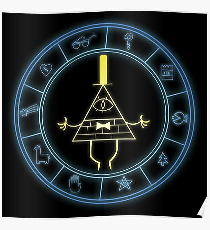 """Bill's Wheel"" from Gravity Falls Poster"