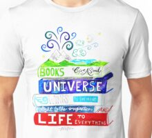 Stack of books typography quote Unisex T-Shirt