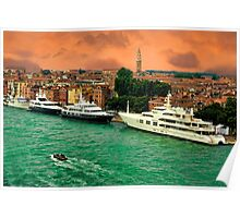 ✿◕‿◕✿  ❀◕‿◕❀ YACHTS IN VENICE ✿◕‿◕✿  ❀◕‿◕❀ Poster