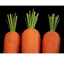 Carrots all in a row Photographic Print