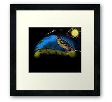 Bird in moonlight Framed Print