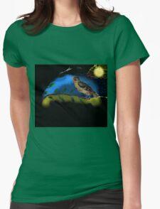 Bird in moonlight Womens Fitted T-Shirt