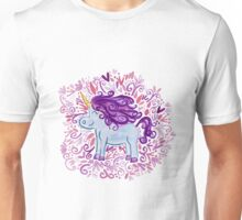 Cute Indie Unicorn - Watercolor Design Unisex T-Shirt