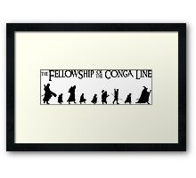 Fellowship of the Conga Line Framed Print