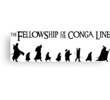 Fellowship of the Conga Line Canvas Print