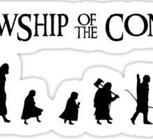 Fellowship of the Conga Line Sticker