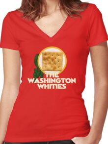 The Washington Whities Women's Fitted V-Neck T-Shirt