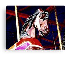 Brown Horse With Dark Mane Canvas Print