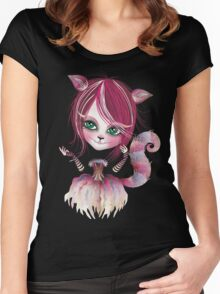 Cheshire Kitty Women's Fitted Scoop T-Shirt