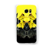Birds black and yellow Samsung Galaxy Case/Skin