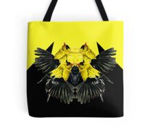 Birds black and yellow Tote Bag