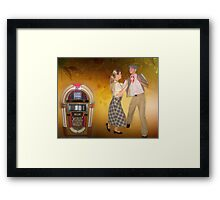 ♪ ♩ ♪ ❤ 。◕‿◕。We're Gonna Rock Around The Clock Tonight♪ ♩ ♪ ❤ 。◕‿◕。  Framed Print