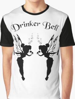 2 Drinker Bell Dark Graphic T-Shirt