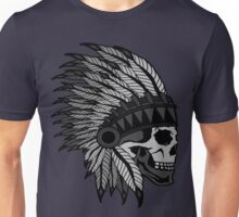Indian Skull Head dress Unisex T-Shirt