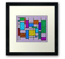 Mondrian Pixelate Framed Print