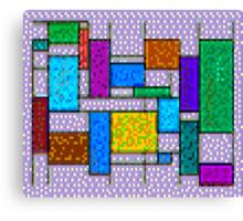 Mondrian Pixelate Canvas Print