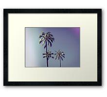 palm trees ver.retro Framed Print