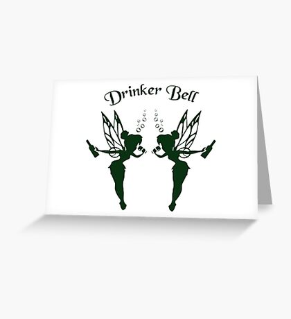 2 DrinkerBell Green Greeting Card