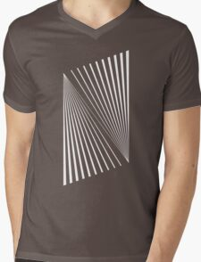 Abstract Lines Mens V-Neck T-Shirt