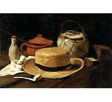 Still-Life with Yellow Straw Hat Photographic Print
