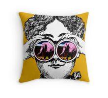 I see polka dot elephants - vintage retro pop art Throw Pillow