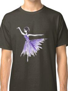 Purple Ballerina Fashion Illustration Watercolor Classic T-Shirt