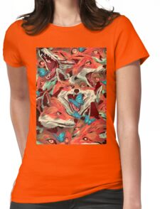Foxes-Picnic-Cargo Womens Fitted T-Shirt