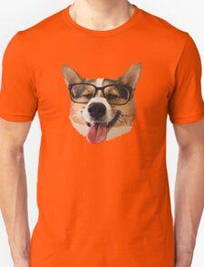 Corgi Dog with Glasses Unisex T-Shirt