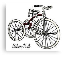 """Vintage 30s red Tricycle """"biker kid"""" Canvas Print"""