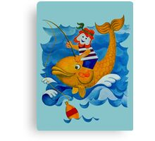 Fishing with Moby Dick Canvas Print