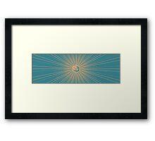 D20 Starburst Yellow Framed Print