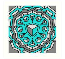 aqua cubes Art Print