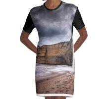 Gibson Steps Waterfalls (Near) Graphic T-Shirt Dress