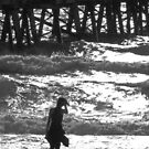 Girl on Beach by SusanAdey