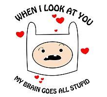 My Brain Goes All Stupid Photographic Print